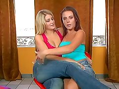 Penny and Lacie Nice Lesbian Fun lesbian porn tube