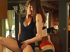 Two horny milfs with big jugs lick salty... lesbian porn tube