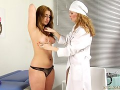 Examined and excited by a lesb gyno doctor uniform lesbian porn