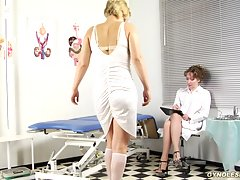 Pussy doctor having lesbian sex with a... uniform lesbian porn
