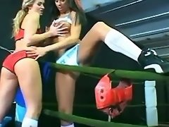 Young sports lesbians caress each other on... sport lesbian porn