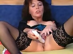 Hot mature lesbian in stockings plays with... stockings lesbian porn
